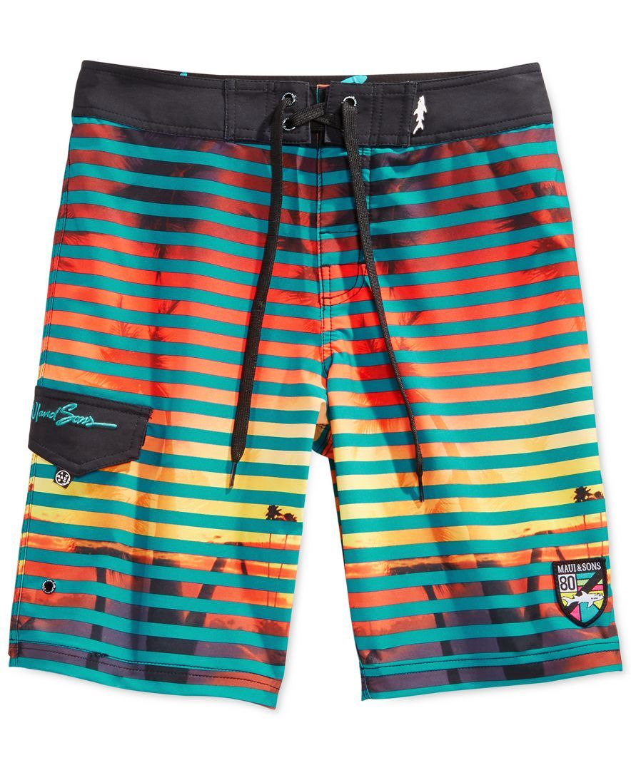 04131549ec Maui and Sons Night Life Striped Board Shorts | Board board life ...
