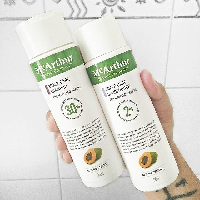 Tried out the @mcarthurnaturalproducts scalp care shampoo and conditioner this morning and so far I'm impressed. ☺ #gifted