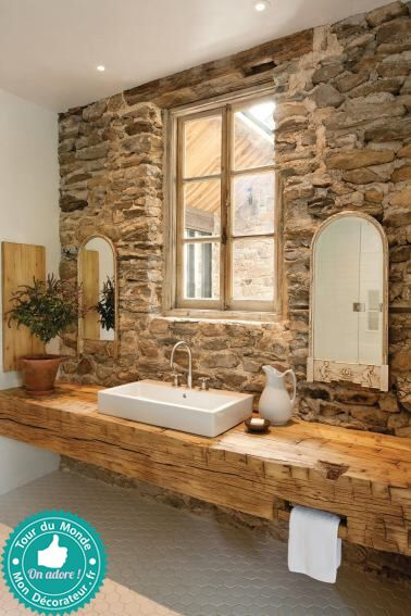 Salle de bain esprit nature et campagne mon décorateur dintérieur une ferme