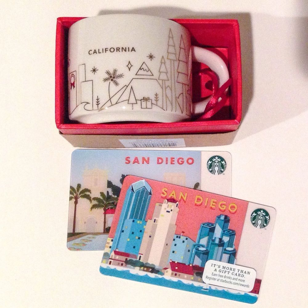 Starbucks You Are Here Mug Ornament - California and Two San Diego ...