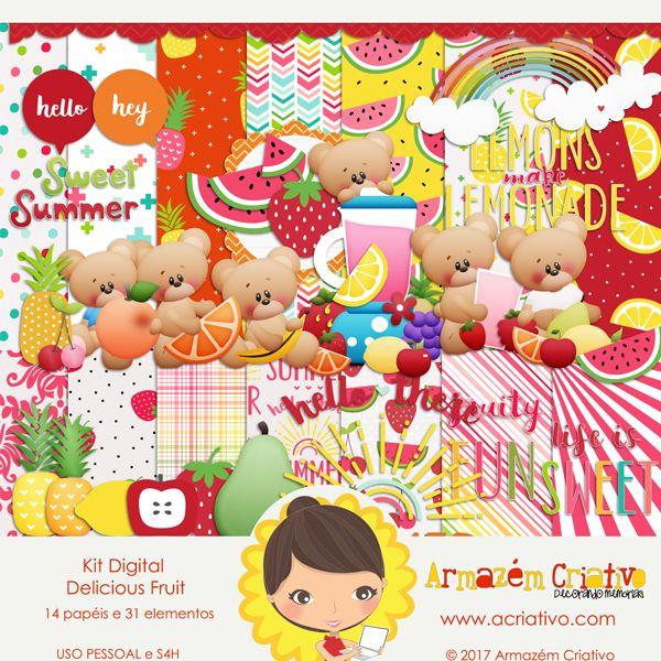 🌟{Lançamento}🌟 Kit digital Delicious Fruit Clique para comprar >> goo.gl/OiDPZp