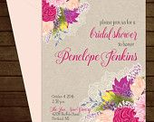 Printable Lace & Floral Bridal Shower Invitation-Print Yourself-Digital Invite