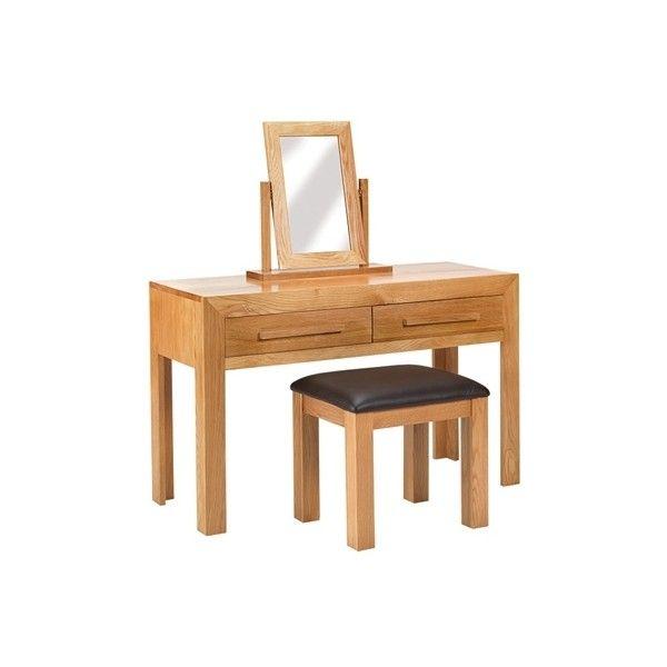 Cuba Cube Oak Dressing Table Set ❤ liked on Polyvore
