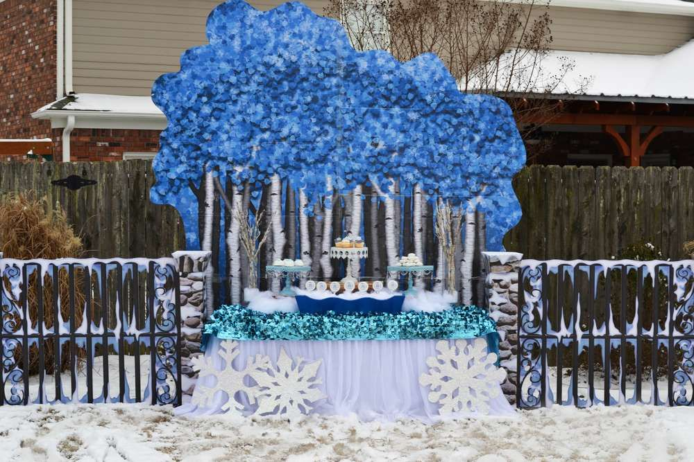 Winter Snow Birthday Party Ideas Garden Party Birthday 400 x 300