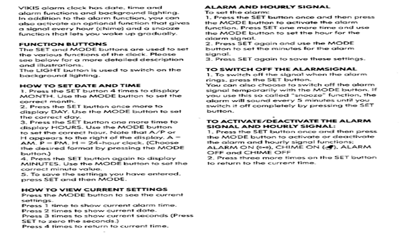 ikea vikis alarm clock instructions unique alarm clock rh alarmclock sfegotist com ikea vikis clock instructions Instruction Manual