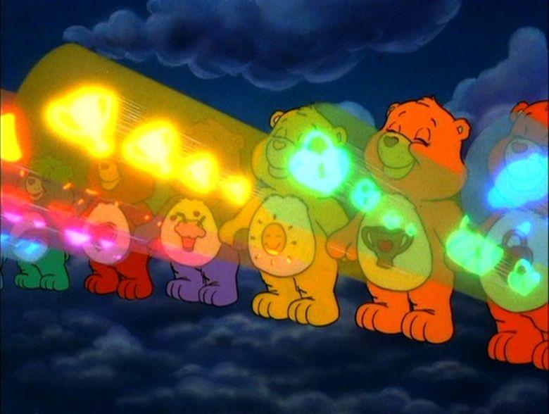 Care Bear Stare against Dark Heart from Care Bears Movie 2 | Care bear  tattoos, Care bear, Heart for kids