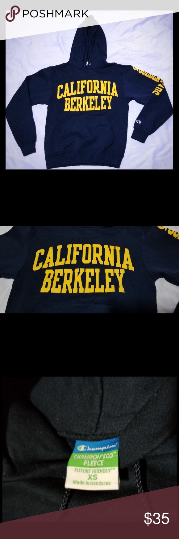 Sold University Of California Berkeley Hoodie Champion Sweatshirt Champion Shirts Hoodies [ 1740 x 580 Pixel ]