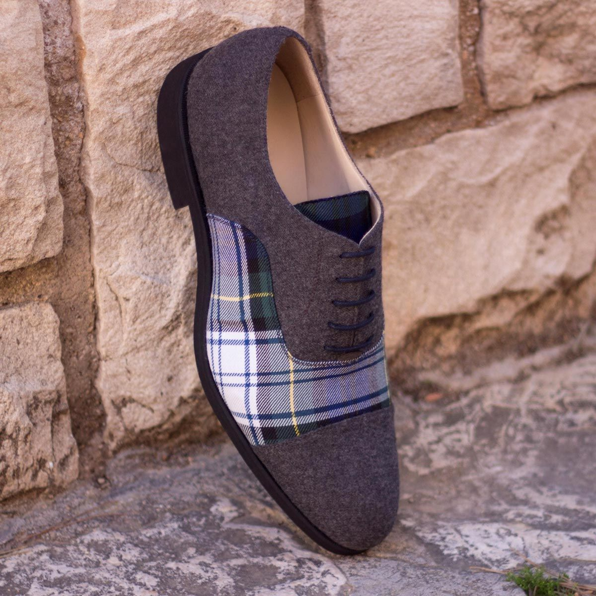 Custom Made Oxford in Tartan Sartorial and Dark Grey