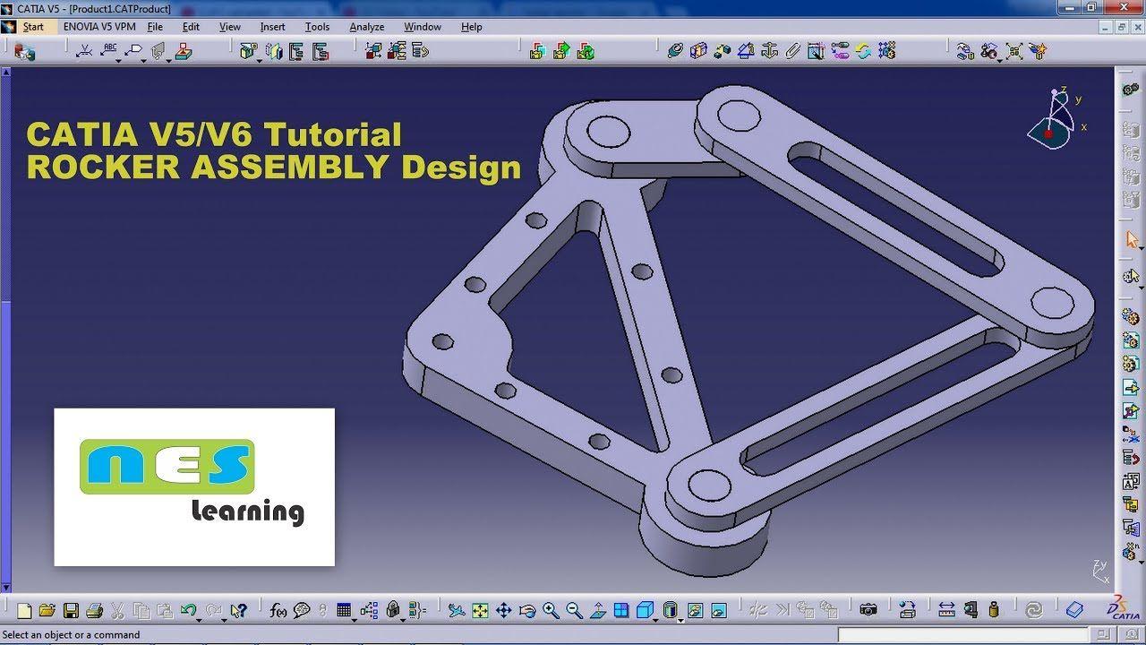 CATIA V5/V6 Tutorial | *NEW* ROCKER ASSEMBLY Design STEP BY