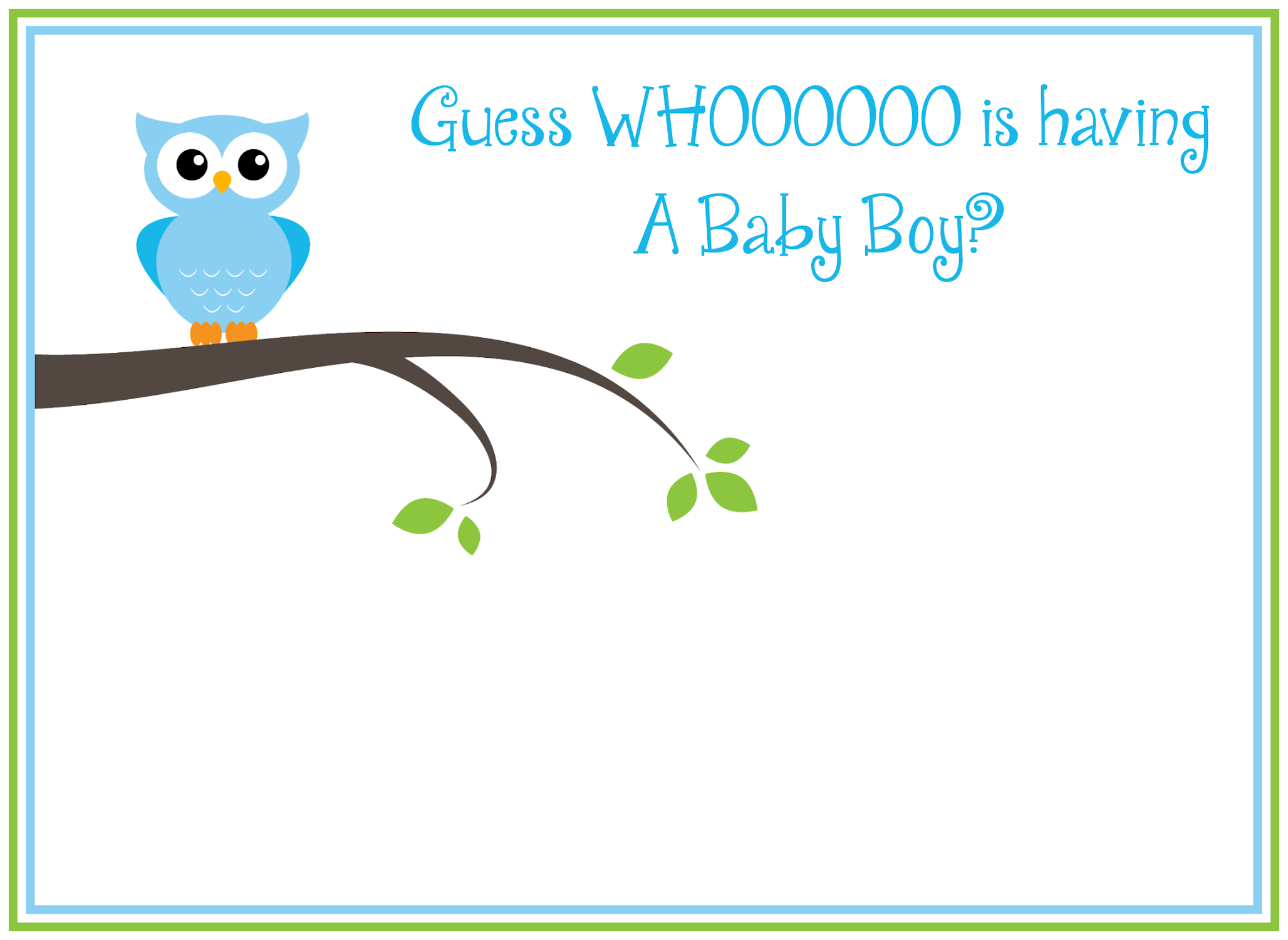 Free Printable Owl Baby Shower Invitations {& Other Printables ...