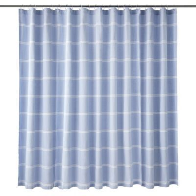 Calvin Klein Eileen Shower Curtain In Blue White Blue White