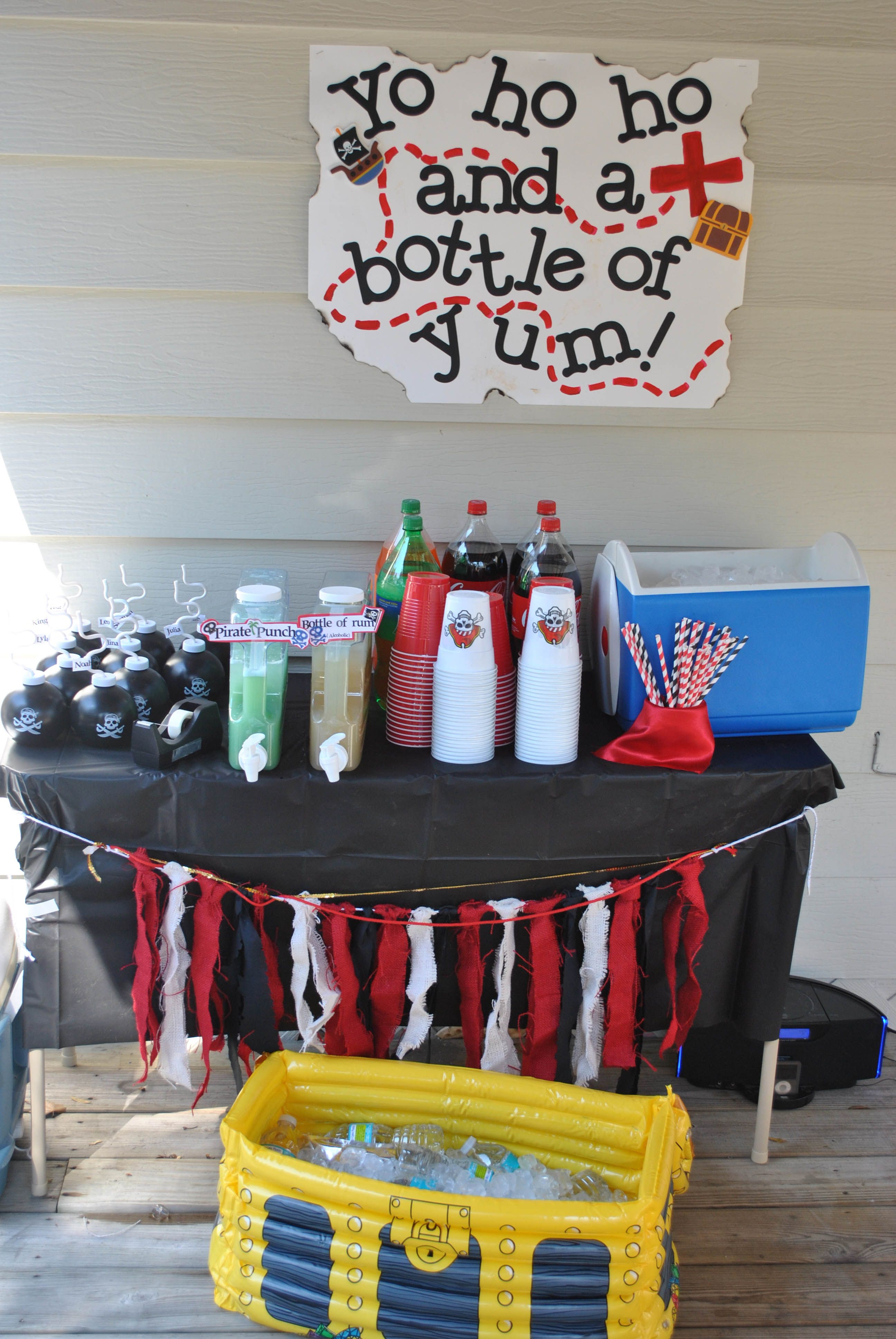 Pirate party drink station
