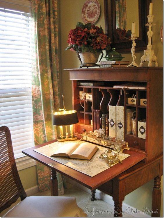 Secretary Desk Reading Nook Home English Decor