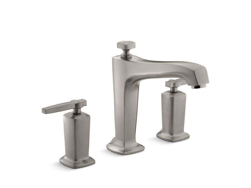 Margaux R Deck Mount Bath Faucet Trim For High Flow Valve With Non Diverter Spout Tub Faucet Roman Tub Faucets Widespread Bathroom Faucet