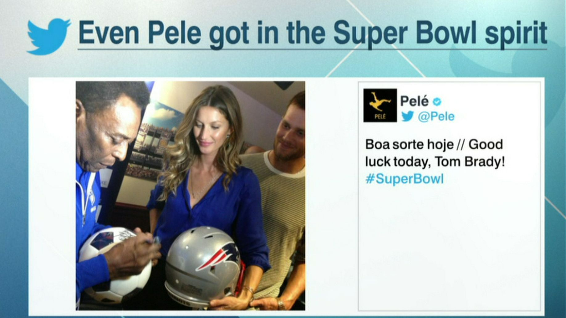 The Sweeper Gisele Pele At Super Bowl Li Whats Crackin Pel