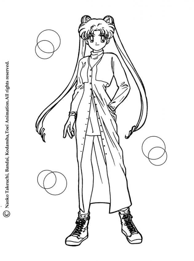 Sailor Moon   Coloriages Sailor Moon   Pinterest