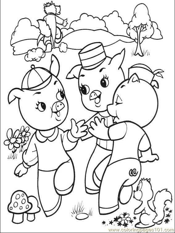 The Three Little Pigs 001 (4) printable coloring page for kids and ...