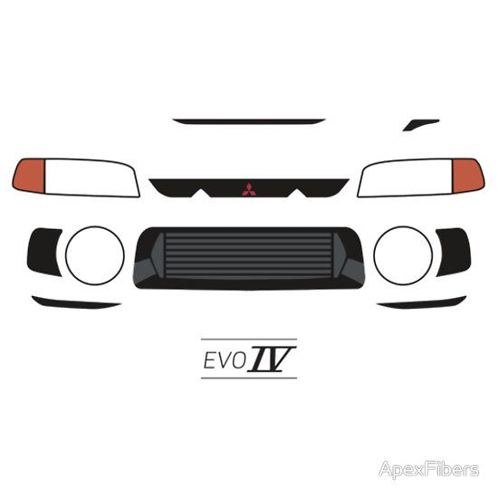 'Evo 4 simple front end design' T-Shirt by ApexFibers