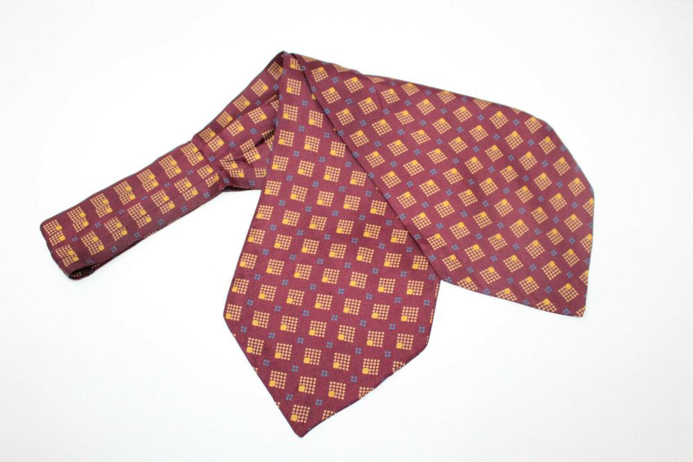 Romagnoli Ascot Silk Tie E95102 Made In Italy Ebay In 2020 Silk Ties Ascot Silk
