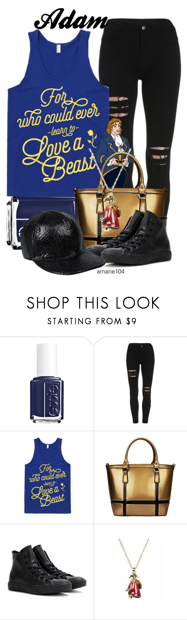 """""""Adam"""" by amarie104 ❤ liked on Polyvore featuring Essie, ADAM, Converse, Disney Couture and STELLA McCARTNEY"""