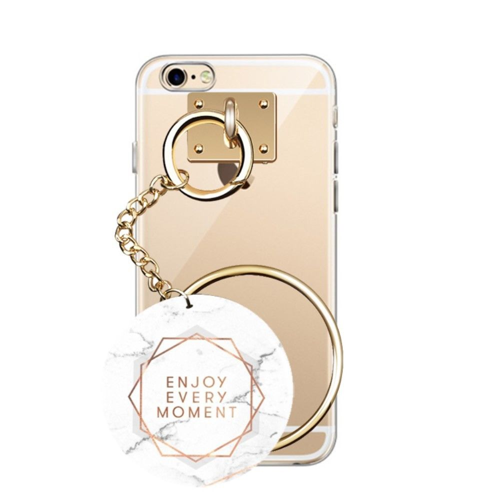Coque Transparente iPhone 6s 6 Marbre Ring - Enjoy Every Moment