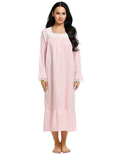 Ekouaer Sleep Tee Shirts Womens Cotton Sleepwear Comfortable Nighty Pink  Large     BEST VALUE BUY on Amazon be7c810601