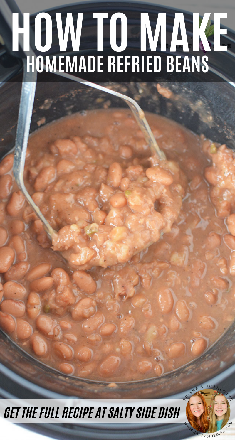 Homemade Refried Beans Mexican Food Recipes Mexican Food Recipes Authentic Homemade Refried Beans