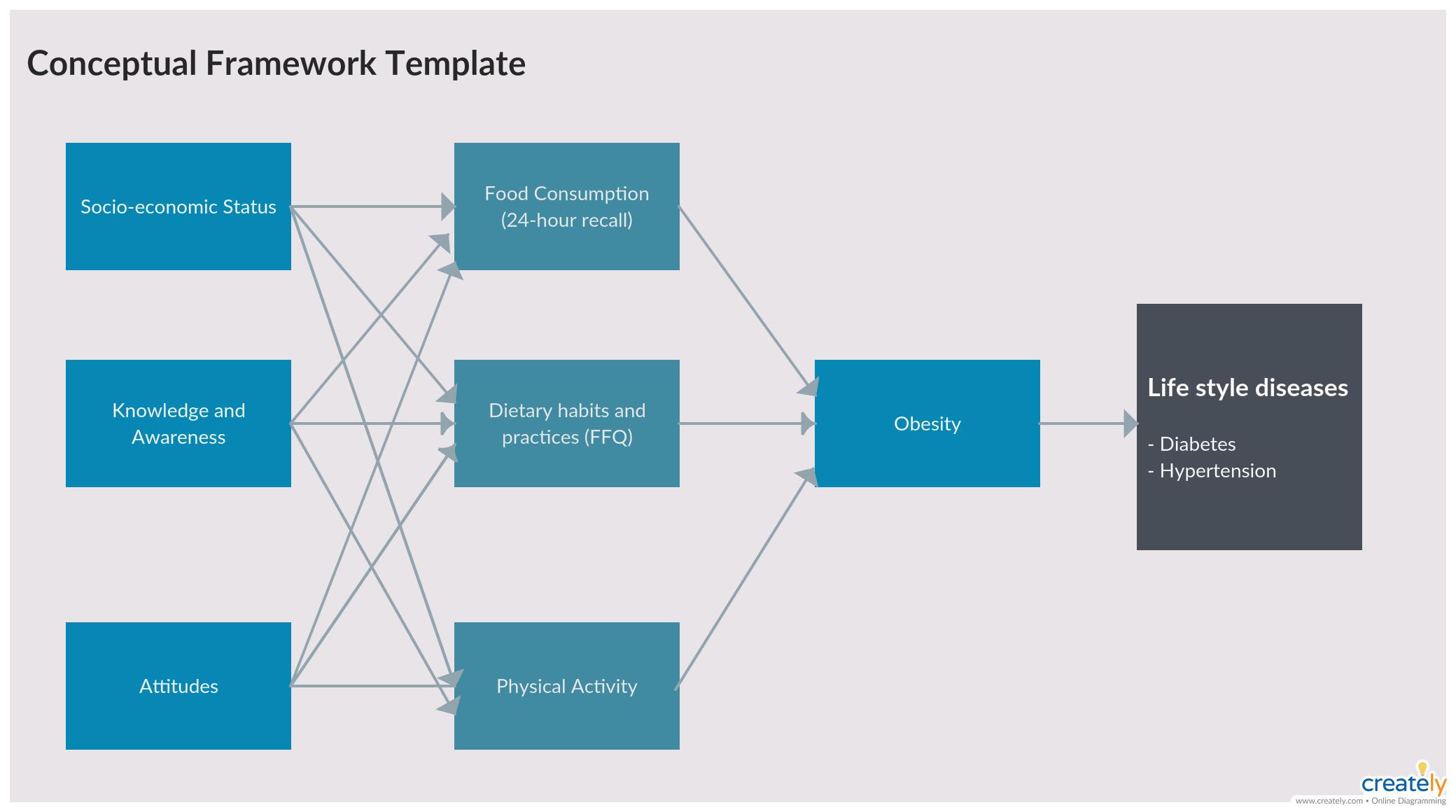 Conceptual Framework Template   Conceptual framework, Conceptual, FrameworkPinterest