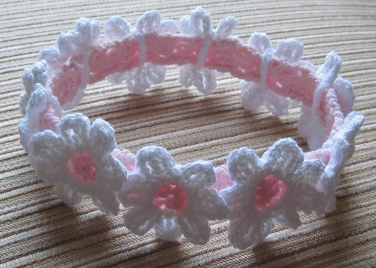 Instant Download #59 Crochet Pattern Baby Headband With White ...