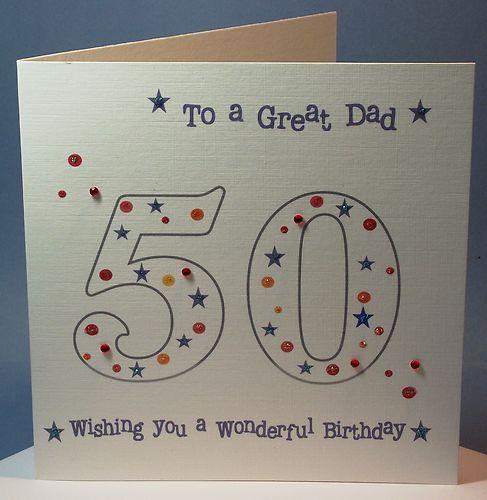 Personalised Handmade 50th 55 60 65 70 Birthday Card Dadgrandad