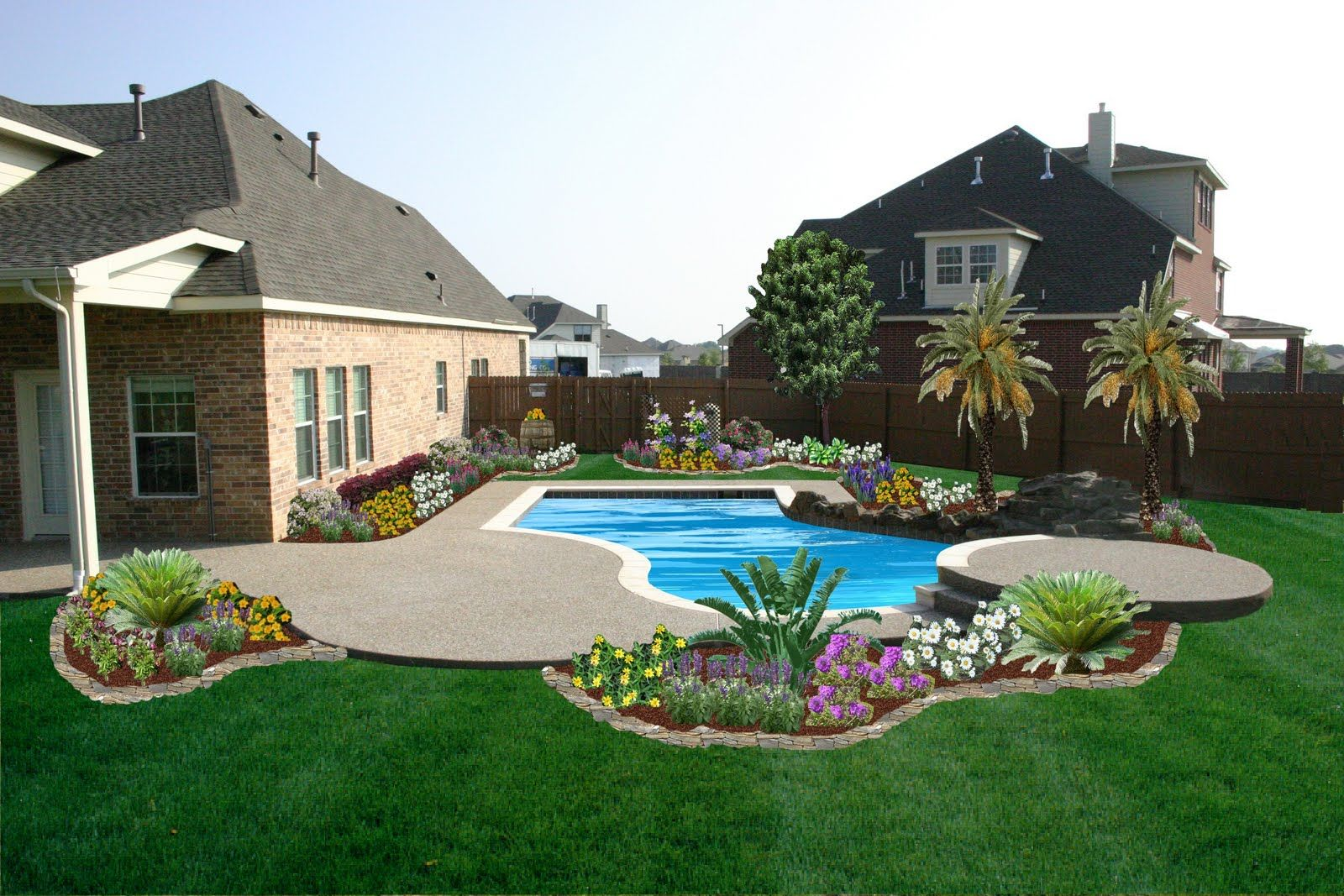 Small Backyard Pools With Grass No Pool For Us But Here Are