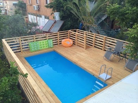 2014 intex pool project youtube - Intex Above Ground Pool Decks