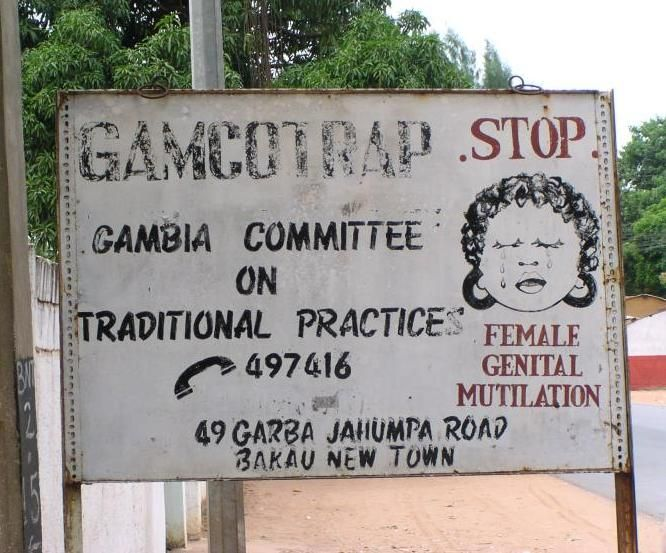 FGM road sign, Bakau, Gambia, 2005 - Gender equality - Wikipedia, the free encyclopedia