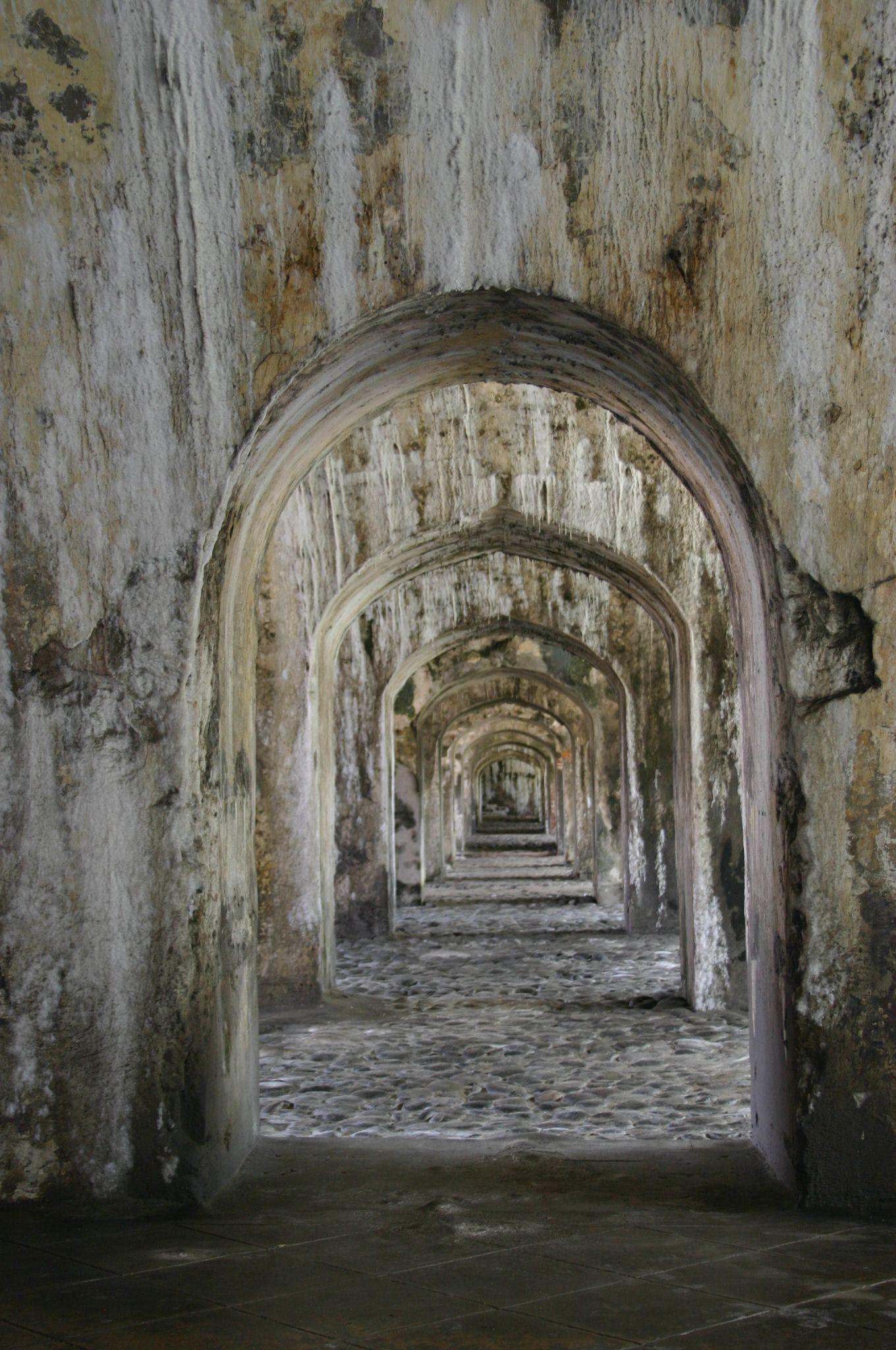 Arcos en el Fuerte de San Juan de Ulua, Veracruz.