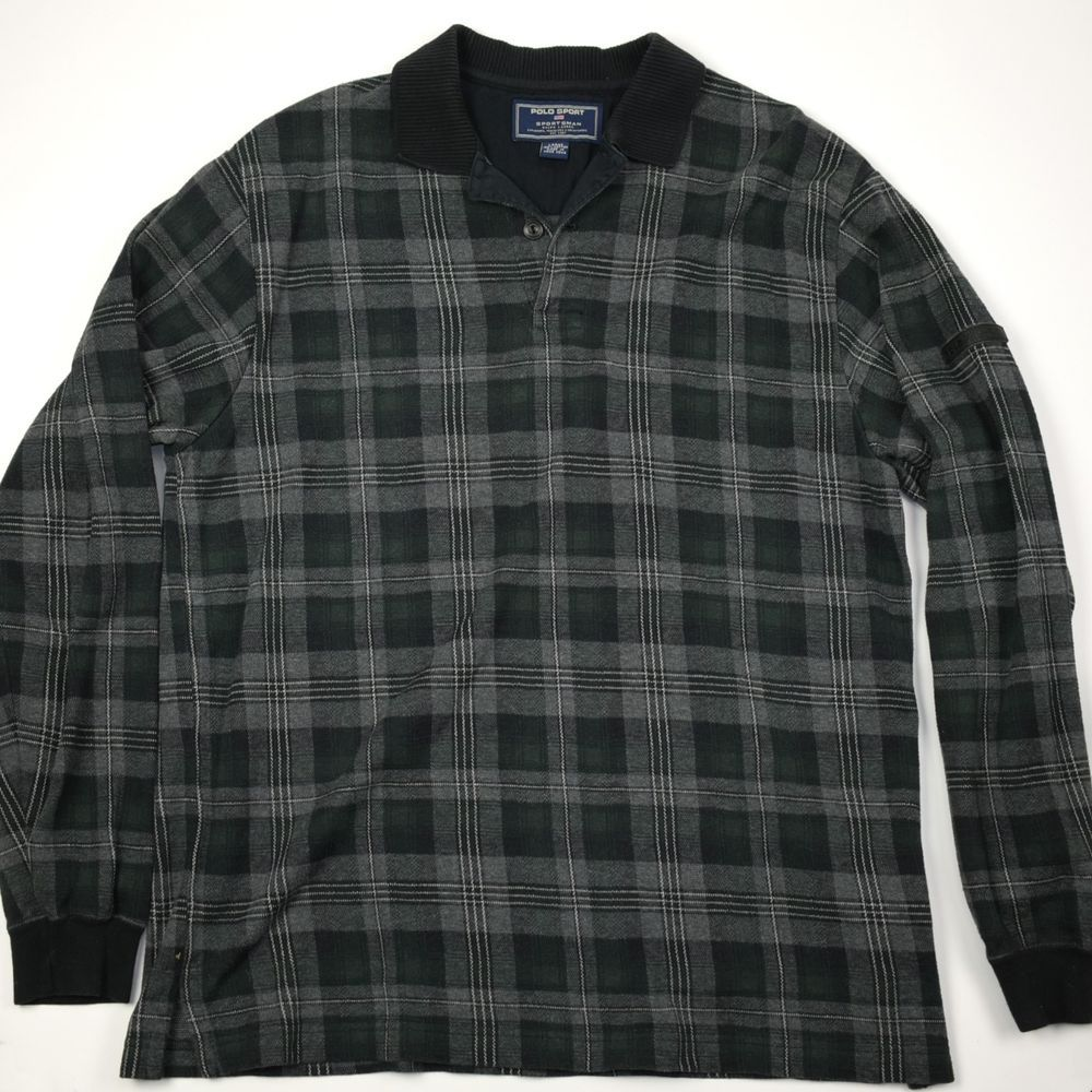 Polo Sport Sportsman Shirt Ralph Lauren Plaid Flannel Pullover ...
