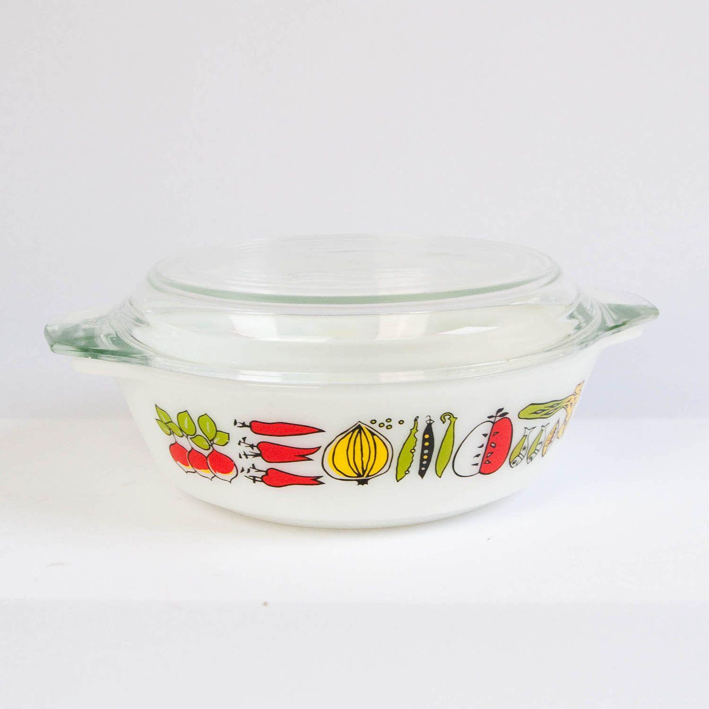 JAJ Pyrex casserole dish, Harvest print, vintage pyrex dish ...