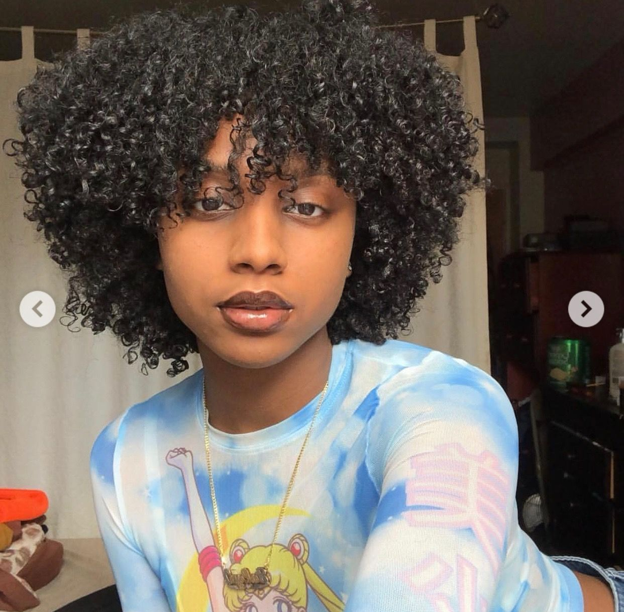 This But With Locs Instead Of Curls Natural Hair Styles Curly Hair Styles Short Natural Hair Styles
