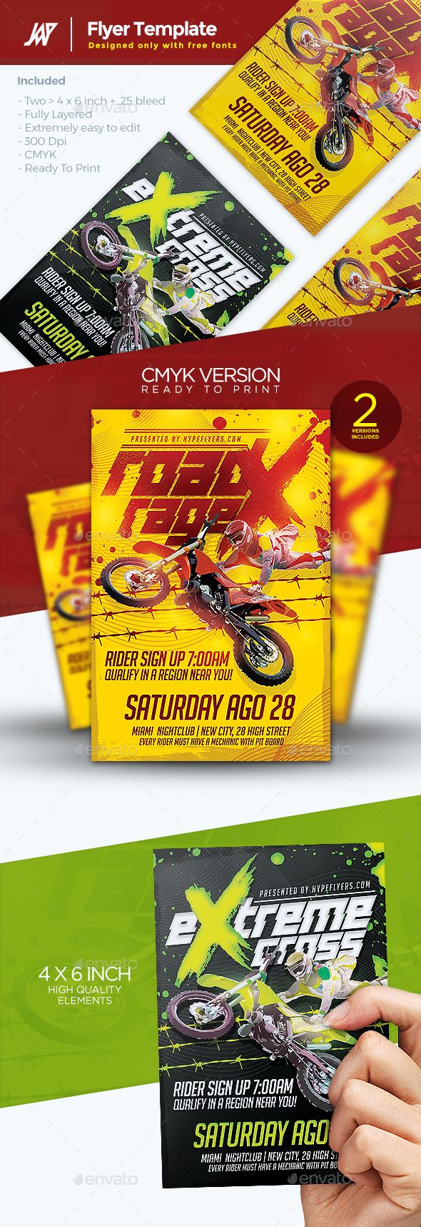 Motocross Event Flyer Template Psd Download Here Https