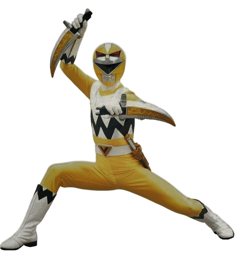 Lost Galaxy Yellow Ranger Transparent! by CamoFlauge