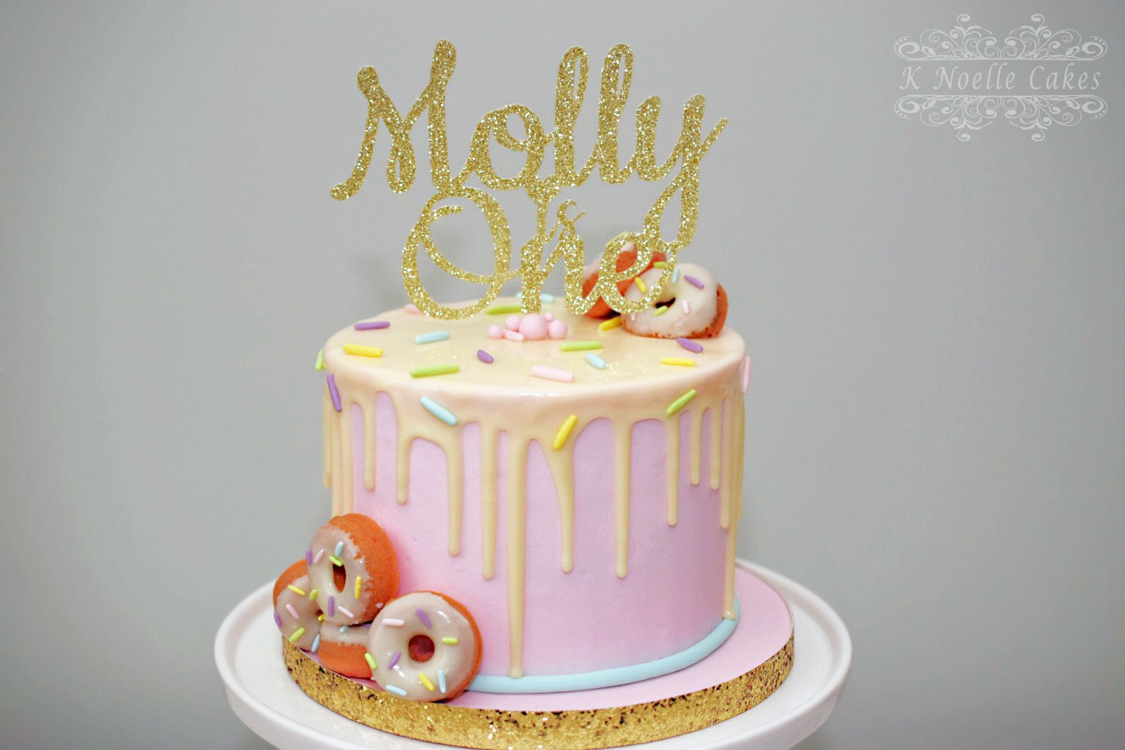 Donut Theme 1st Birthday Cake By K Noelle Cakes
