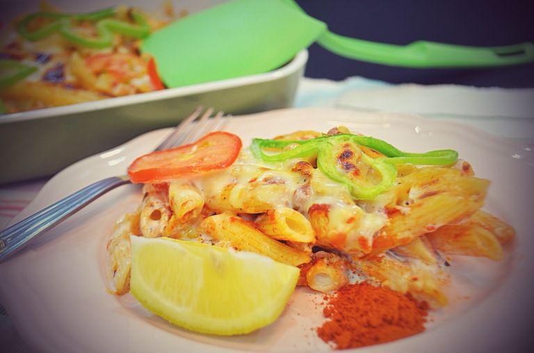 تحضير مكرونه الدجاج بالصلصه الحمراء المميزة Food Shrimp Meat