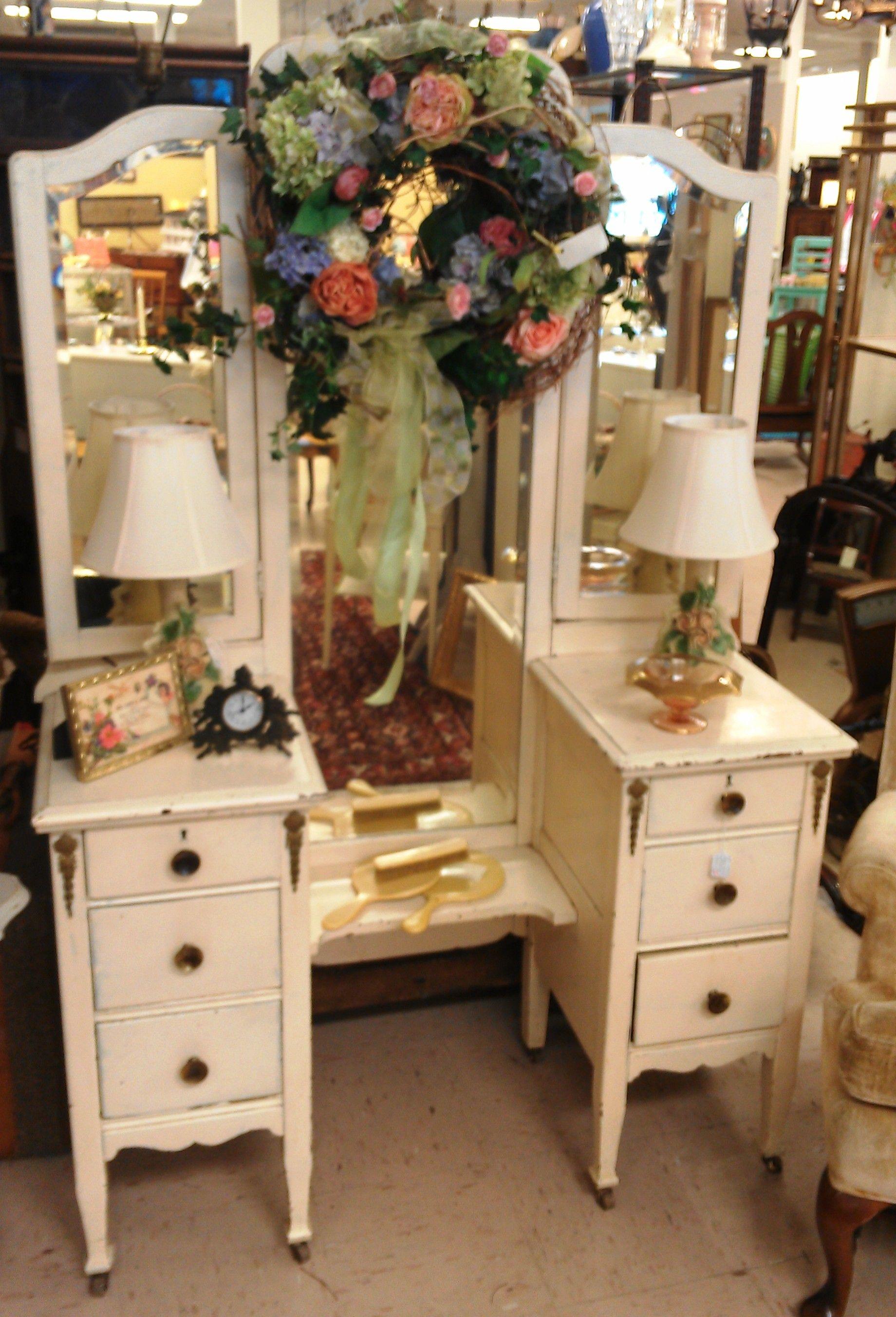 Vintage Vanity With 3 Way Mirror Bedroom Of My Dreams Pinterest