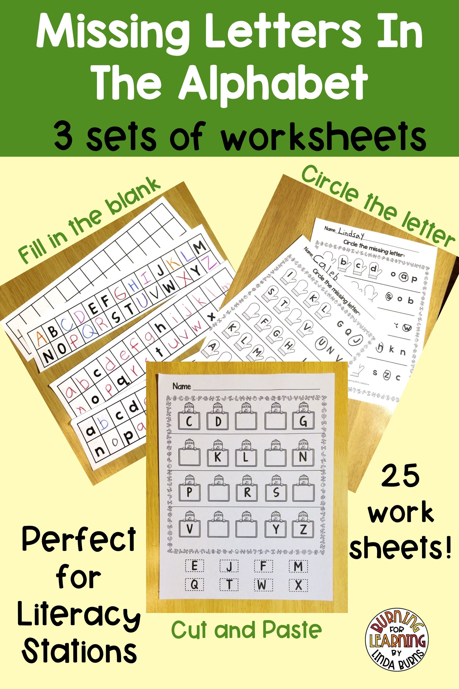 Missing Letters In The Alphabet Worksheets