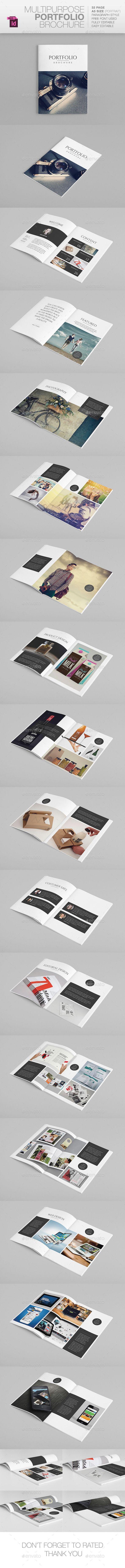 Multipurpose A5 Portfolio | Indesign templates, A5 and Template