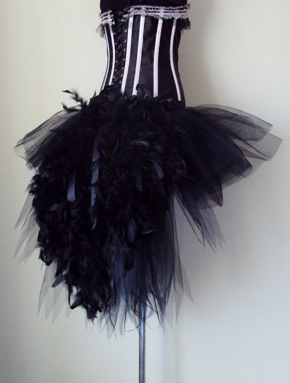 3f555c688f Black Swan Tutu skirt Burlesque all sizes avaliable feathers ...