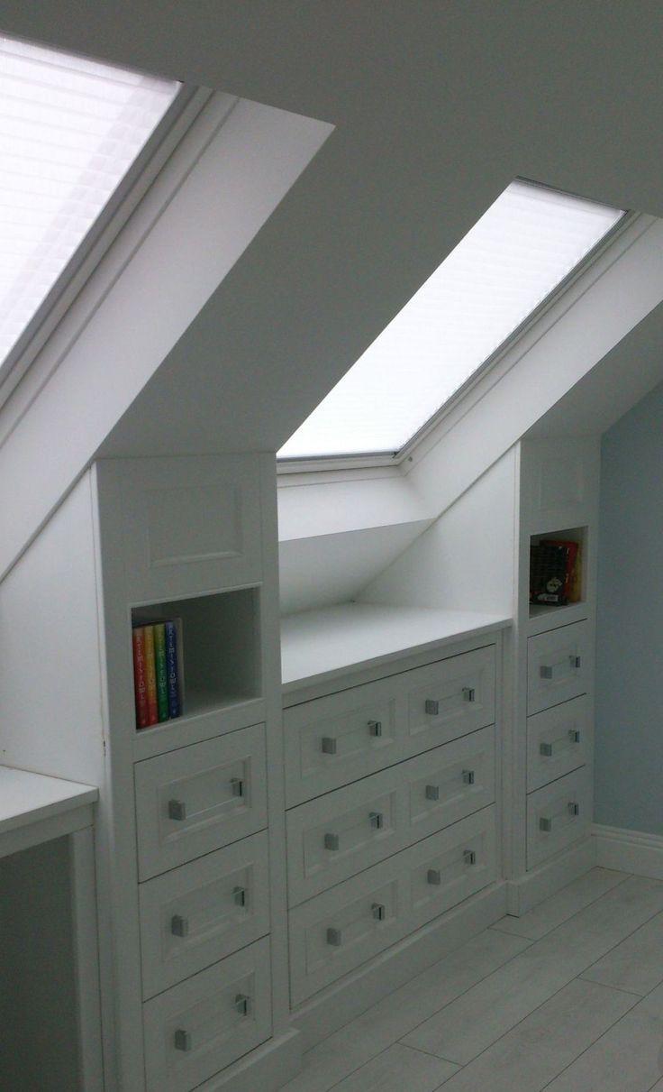 zolderkamer ideeën schuine wanden, slaapkamers, kleine zolderkamer ideeën, lezen, lage c… – Mein Blog  – Stauraum Diy