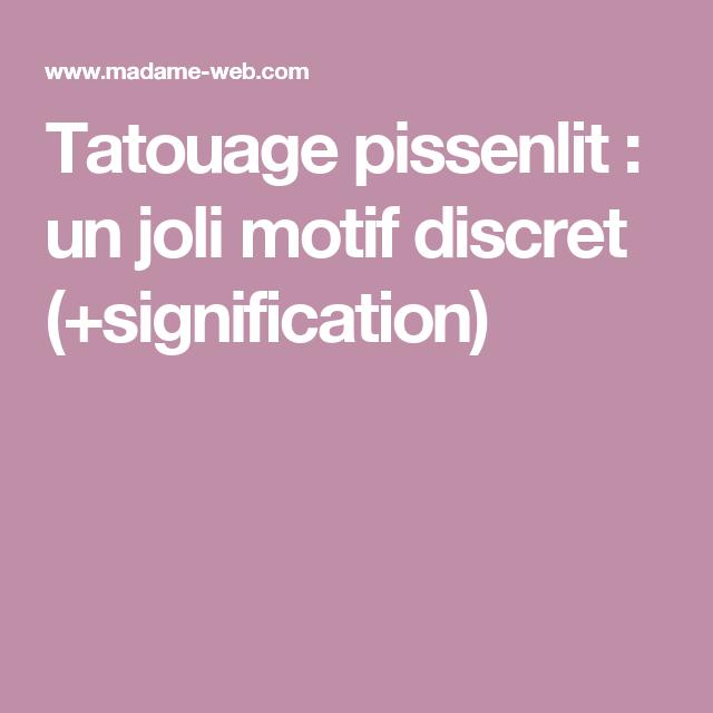 Tatouage pissenlit : un joli motif discret (+signification)