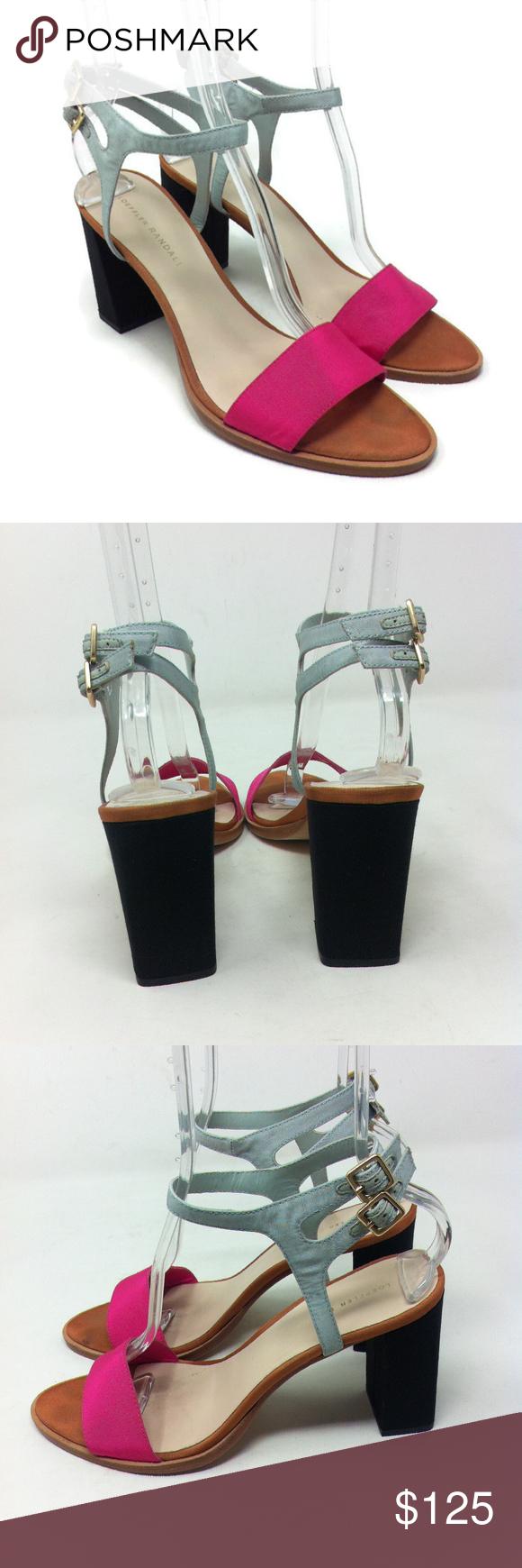 fd81f4a16249 Loeffler Randall Sylvia Pink Black Block Heels 10 Loeffler Randall Women s  Heels Sylvia Block Sandal Pink