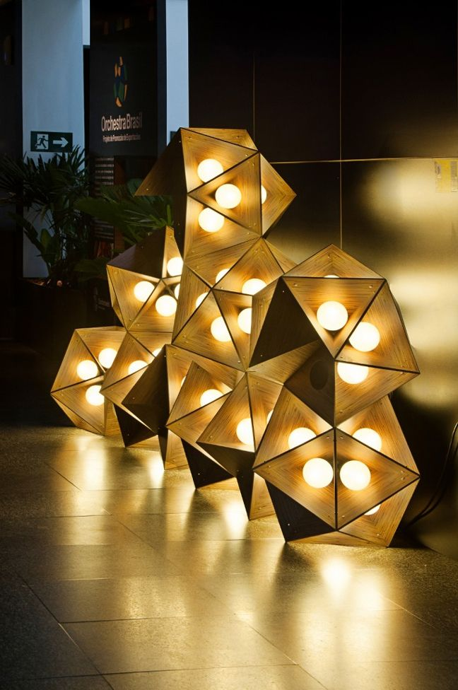 Joseph Marton Lighting Design Uses Geometric Lamp Shades To Unfold An Endless Array Made In China Com Lamp Design Geometric Lamp Floor Lamp Lighting