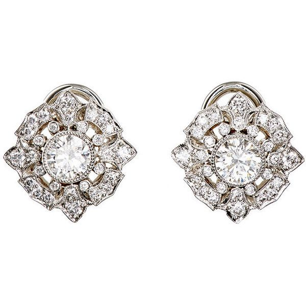 McTeigue & McClelland Women's Belle Epoque Top Studs ($12,000) ❤ liked on Polyvore featuring jewelry, earrings, silver, polish jewelry, geometric stud earrings, round earrings, bezel set earrings and cut out jewelry